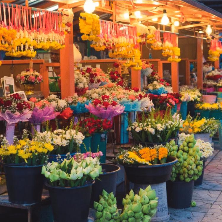 Flowers Shops at Bangkok Flower Market