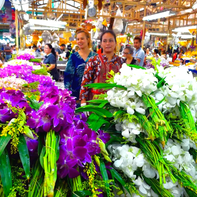 Flowers Sellers at the Market