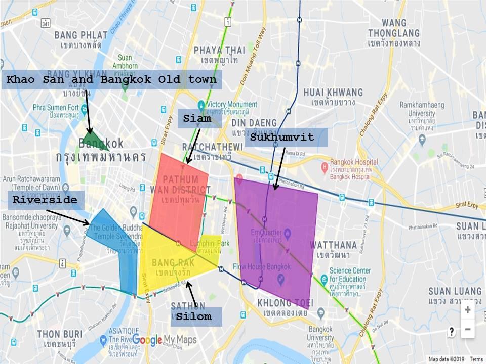 Map of Bangkok